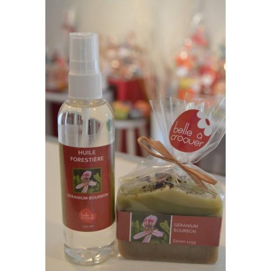 Duo- Savon et huile forestière Géranium bourbon