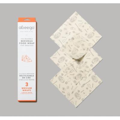 Emballage alimentaire en cire d'abeille - 3 moyens