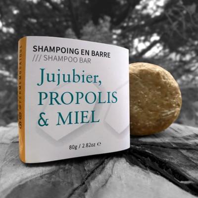 Shampoing en barre Jujubier, Propolis et Miel