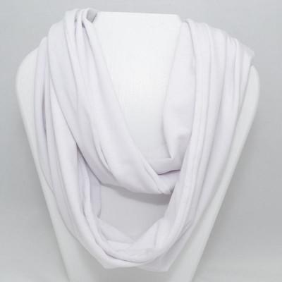 Foulard infini en bambou - Blanc