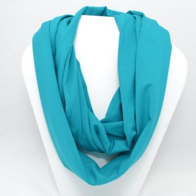 Foulard infini en bambou - Turquoise