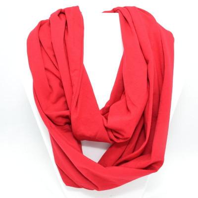 Foulard infini en bambou - Rouge