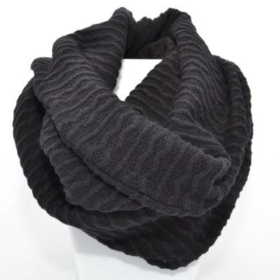 Foulard Tube Tricot - Noir