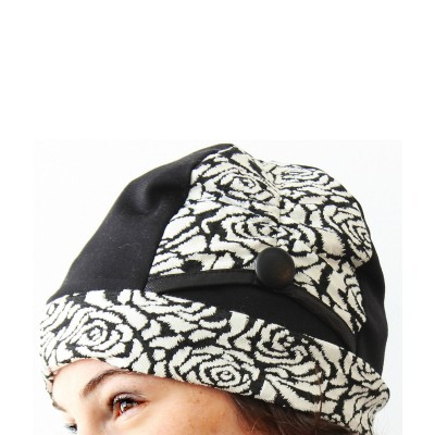 Tuque Betty - Fleurs Blanches