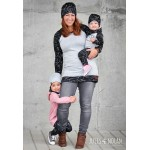 "Tuque ""slouchy beanie"" pour femmes - Roses Blanches"
