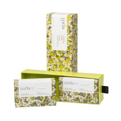Ensemble cadeau Lucia N°2 Savons à l'huile d'olive et feuille de laurier (2x123g)
