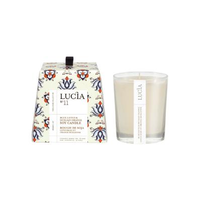 Lucia N°11 Bougie de soja Lotus bleu et orange sicilienne (20h)