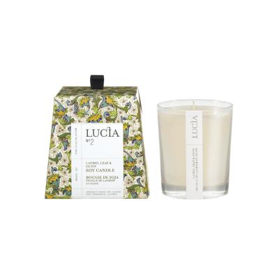 Lucia N°2 Bougie de soja Feuille de laurier et olive (20h)