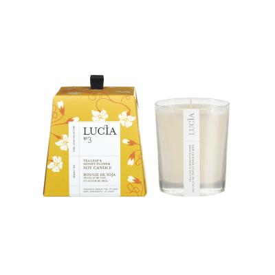 Lucia N°3 Bougie de soja Feuille de thé et fleur de miel (20h)