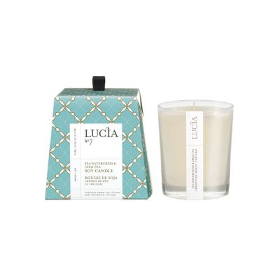 Lucia N°7 Bougie de soja Cresson de mer et thé chai (20h)