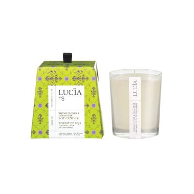 Lucia N°8 Bougie de soja Fleur de thym et coriandre (20h)