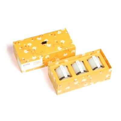 Lucia  N°3 Bougies de soja Feuille de thé et fleur de miel  (3x15h)