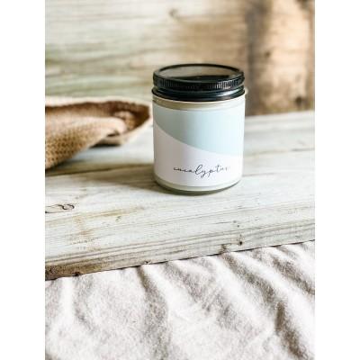 Chandelle de soya Marée- Huile essentielle Eucalyptus (270 ml)