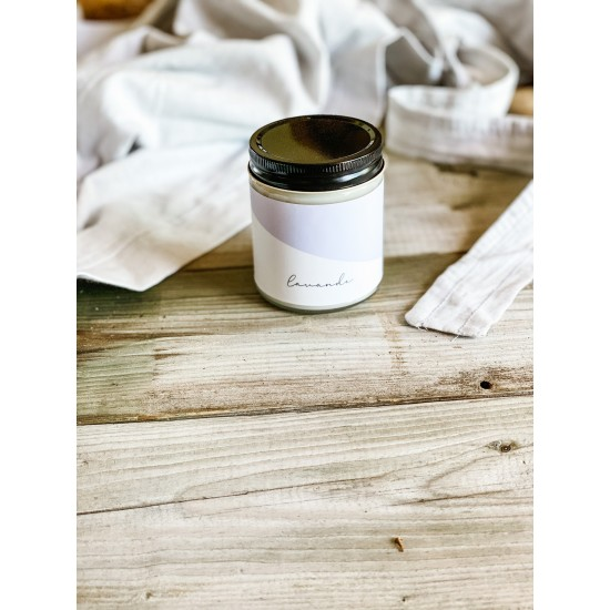Chandelle de soya Marée- Huille essentielle Lavande (270 ml)