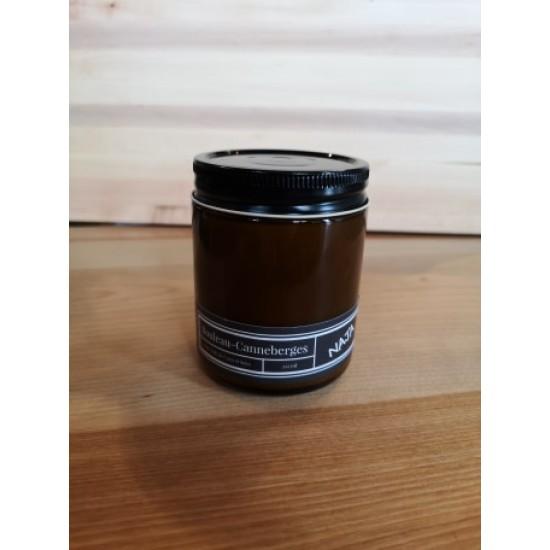 Chandelle Naja à mèche de bois (9oz) -Fraise et crème