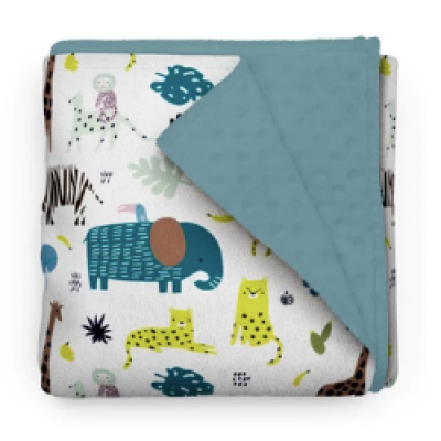 Couverture minky - Chouette safari