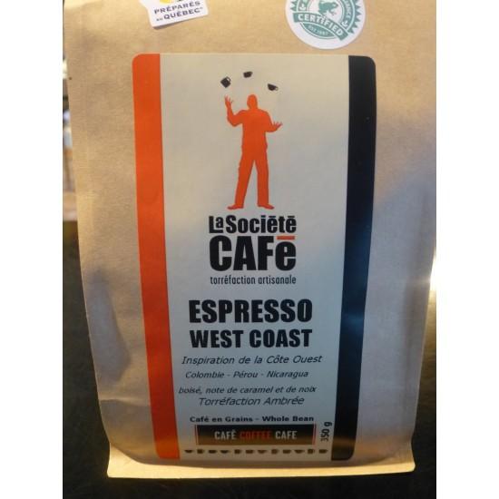 Café- Espresso West Coast (Torréfaction ambrée)