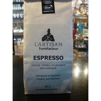 Café bio L'Artisan- Espresso (200 g) Moulu