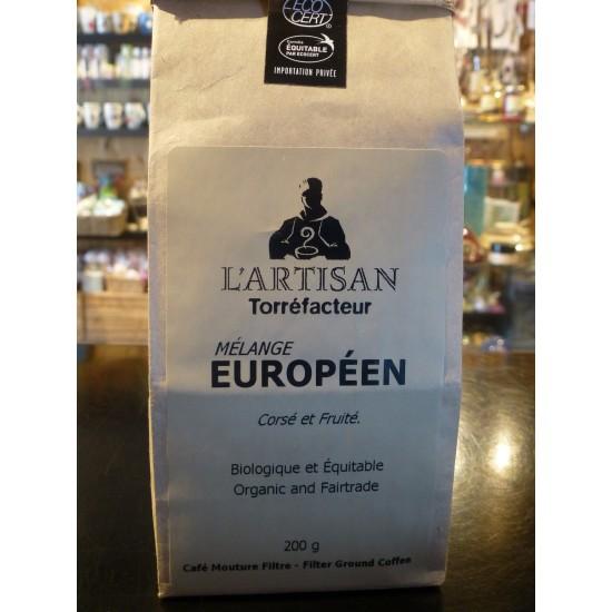 Café bio L'Artisan- Européen (200 g) Moulu