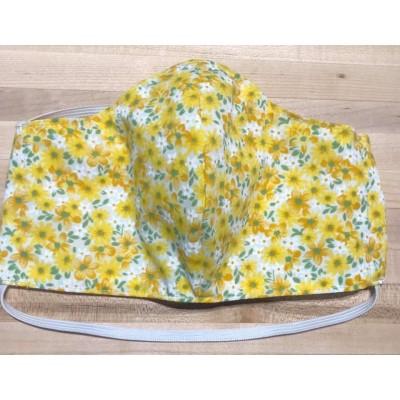 Masque Femme- Fleuri jaune