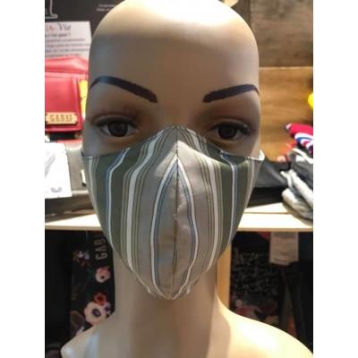 Masque Homme/Femme- Vert ligné