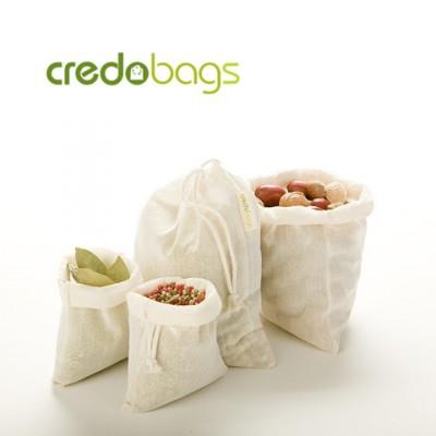Ensemble de 4 sacs à vrac 100% coton