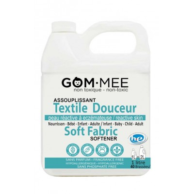 Assouplisseur Textiles Peaux Réactives Eczéma Hypoallergénique 1 litre