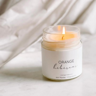 Chandelle de soya Marée - ORANGE HIBISCUS