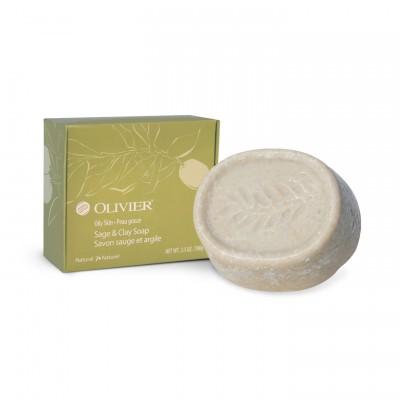Savon Sauge et Argile - Peau grasse ou acnéique  (100 g)