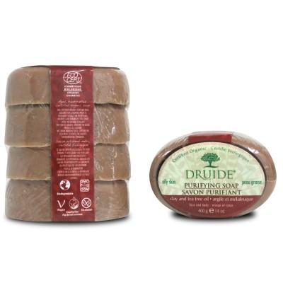 Savon Purifiant, argile et mélaleuque format économique (Paquet de 4 savons)