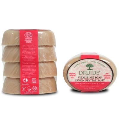 Savon Vitalisant: ginseng & rose format économique (Paquet de 4 savons)